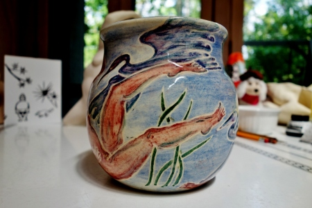 Heron Pot on Art Table 055 (1024x683) (2)